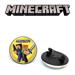 """Значок Майнкрафт """"Fight"""" / Minecraft"""