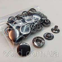 Кнопка 15 мм металлическая (Альфа). Упаковка (10шт.) блек никель.