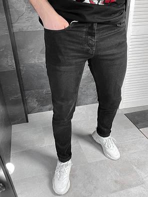 Мужские зауженные базовые джинсы черного цвета, фото 2