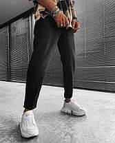 Чоловічі джинси прямі МОМ чорного кольору, фото 3