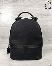 Кожаная сумка рюкзак «Rashel» черный