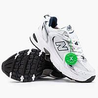 Женские кроссовки New Balance 530 White Navy | Нью Беланс 530 Белые