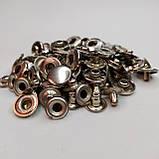 Кнопка 15 мм металлическая (Альфа). Упаковка(10шт.). никель., фото 2