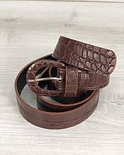 Ремень коричневый крокодил