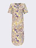 Летнее прямое платье с коротким рукавом и закругленным низом, фото 5