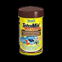 Корм для аквариумных рыб Tetra MIN Mini Granules 100 мл корм в гранулах для небольших декоративных рыбок
