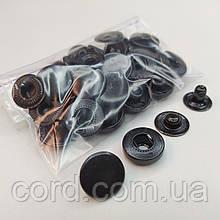 Кнопка 15 мм металлическая (Альфа). Упаковка(10шт.). оксид(черный).