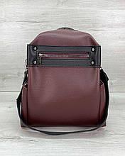 Женская сумка рюкзак Aliri-463-07 темно бордовый