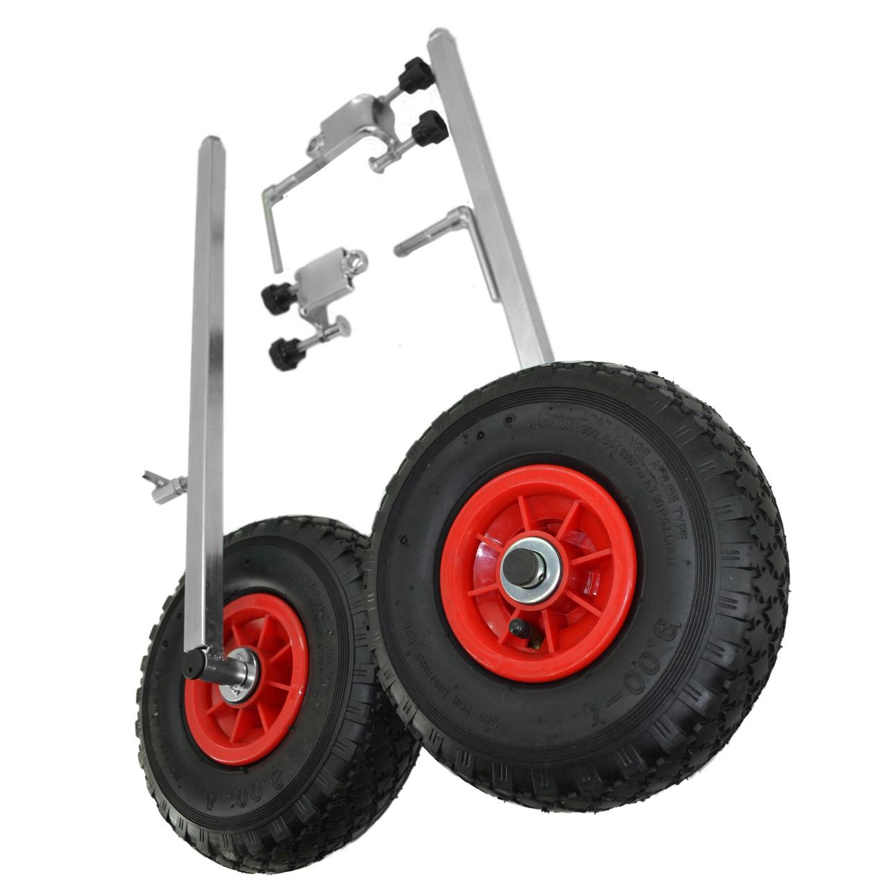 Транцевые колеса на струбцинах КТ500 str(260) для лодок из ПВХ