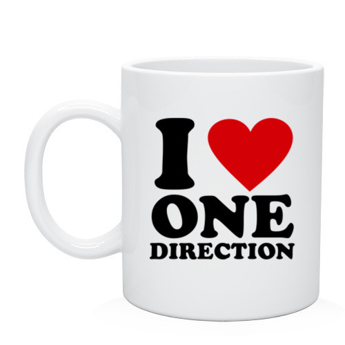 Кружка I love one direction