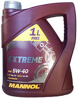 Моторное масло синтетика Mannol (Манол) Extreme 5w40 4л