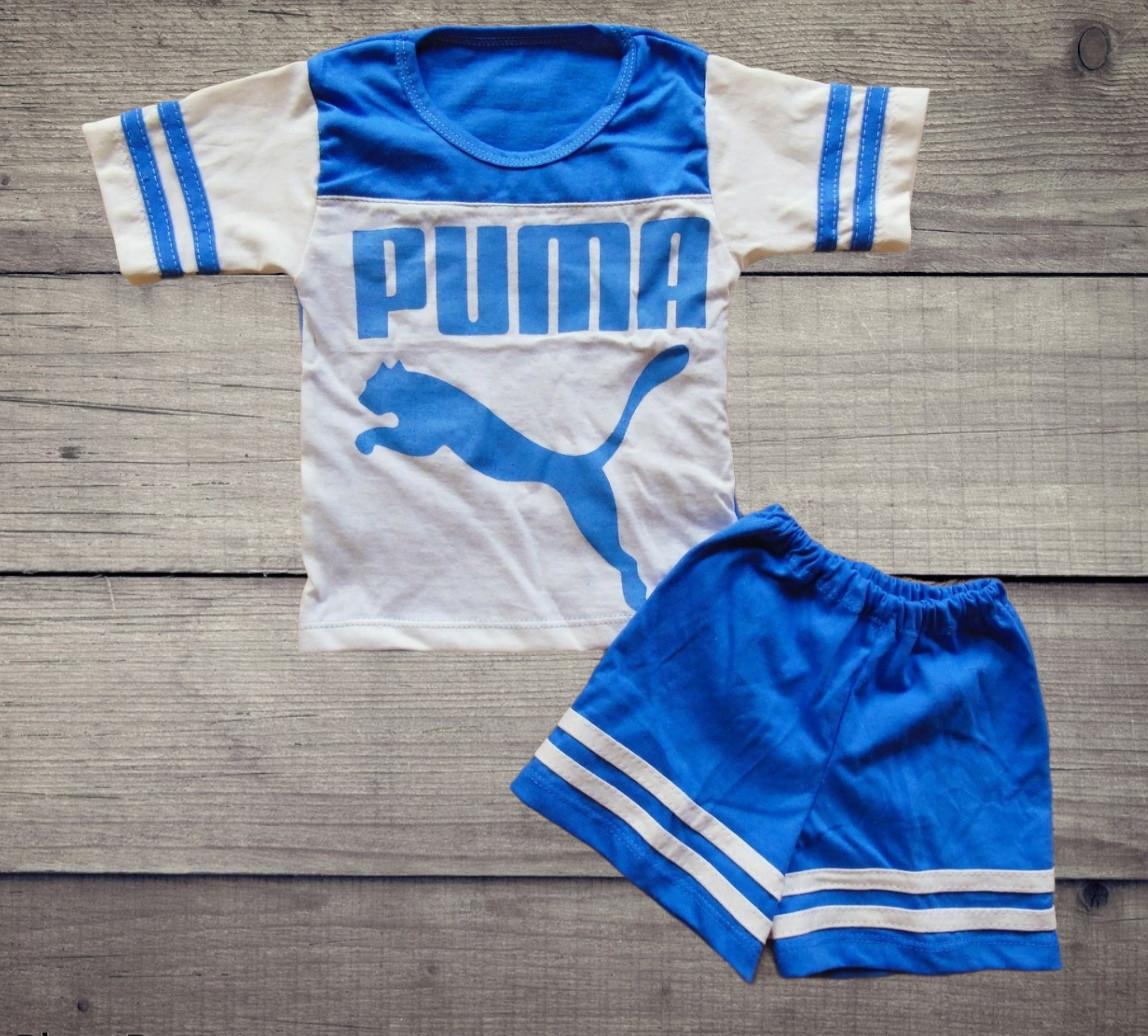 Детский летний костюм футболка и шорты  ПУМА