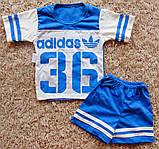 Дитячий літній костюм футболка і шорти АДІДАС, фото 2