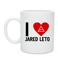 Кружка I love Jared Leto