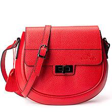 Женская сумка кросс-боди Eminsa 40234-37-5 кожаная красная
