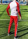 Спортивный костюм в стиле Adidas Оригинал кофта штаны красный, фото 2