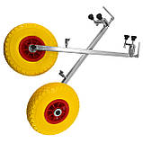 Транцевые колеса на струбцинах КТ500 str(260) Poly для лодок из ПВХ, фото 2