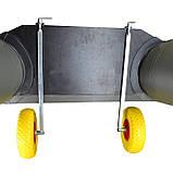 Транцевые колеса на струбцинах КТ500 str(260) Poly для лодок из ПВХ, фото 8
