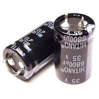 680uF 250V ELP 25x50mm (ELP681M2EBA-Hitano) (электролитический конденсатор)