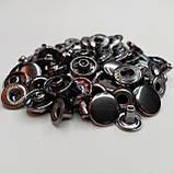 Кнопка 15 мм металлическая (Альфа). Упаковка(50 шт.) блек никель ( тёмное серебро)., фото 2