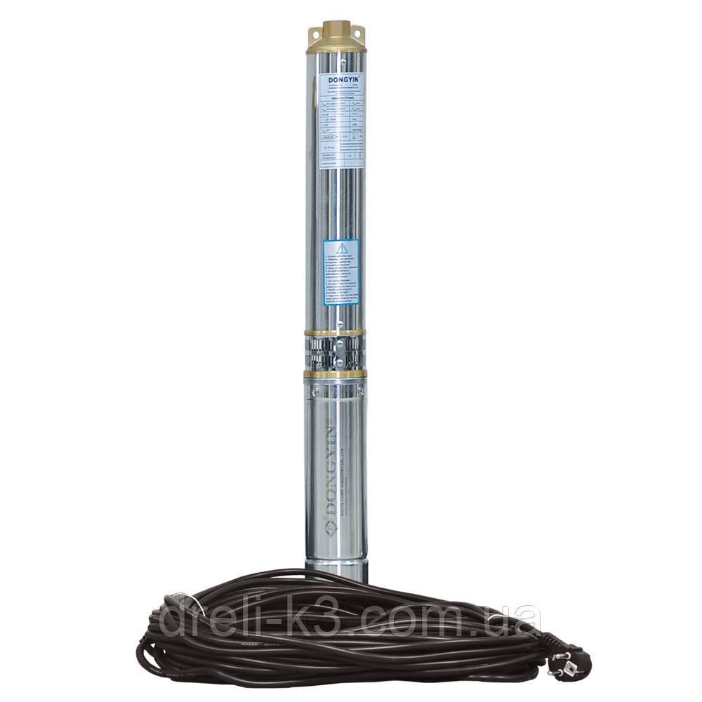 Відцентровий Насос свердловинний 1.1 кВт H 93(69)м Q 90(60)л/хв Ø80мм (кабель 40м) AQUATICA (DONGYIN) (777394)