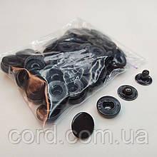 Кнопка 15 мм металлическая (Альфа). Упаковка(50шт). оксид(черный).