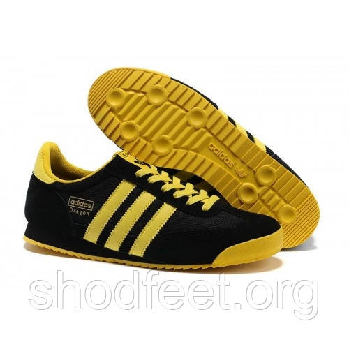 Мужские кроссовки Adidas Dragon Black Yellow