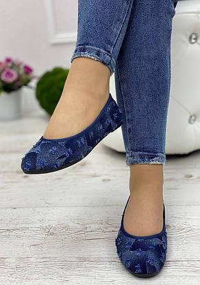 Кросівки жіночі 6 пар в ящику синього кольору 36-41, фото 3
