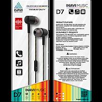 Вакуумні навушники-гарнітура Inavi D7 (Black)