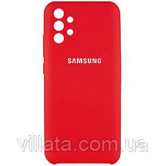 Чехол Silicone Cover Full Camera (AAA) для Samsung Galaxy A72 4G / A72 5G Красный / Red