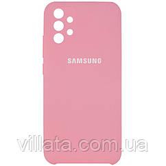 Чехол Silicone Cover Full Camera (AAA) для Samsung Galaxy A72 4G / A72 5G Розовый / Light pink