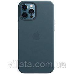 "Кожаный чехол Leather Case (AAA) with MagSafe для Apple iPhone 12 Pro / 12 (6.1"")"