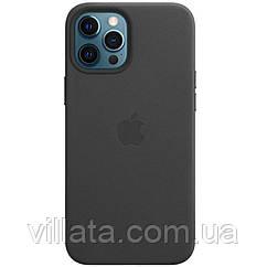 "Кожаный чехол Leather Case (AAA) with MagSafe для Apple iPhone 12 Pro Max (6.7"") Black"