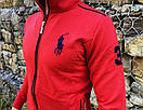 Спортивний костюм в стилі Ralph Lauren Оригінал Кофта штани червоний, фото 2