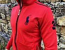 Спортивный костюм в стиле Ralph Lauren Оригинал Кофта штаны красный, фото 2