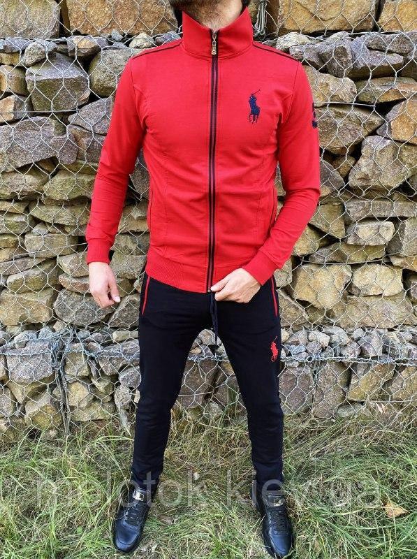 Спортивний костюм в стилі Ralph Lauren Оригінал Кофта штани червоний