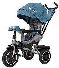 Детский трехколесный велосипед Tilly Cayman (зеленый цвет) с пультом и усиленной рамой