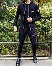 Спортивний костюм Miracle - Example чорна кофта з капюшоном, фото 4