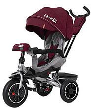 Детский трехколесный велосипед Tilly Cayman (красный цвет) с пультом и усиленной рамой