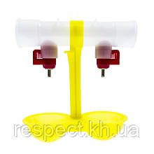 Подвійний модуль напування зі штуцером для круг. труби 25 мм