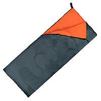 Спальний мішок (спальник) ковдра SportVida SV-CC0061 +2 ...+ 21°C R Navy Green/Orange