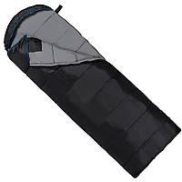 Спальний мішок (спальник) ковдра SportVida SV-CC0073 -3 ...+ 21°C L Black/Grey