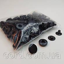 Кнопка 15 мм металлическая (Альфа). Упаковка(100шт.) оксид (черный).