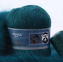 ПУХ НОРКИ 042 темно-зеленый - 95%пух норки, 5% ПА
