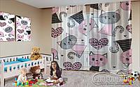 "Фото тюль ""Кошки в розовом"" (2,5м*3,0м, на длину карниза 2,0м)"