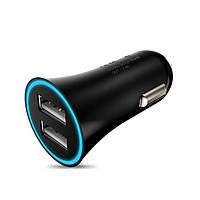 Автомобільний зарядний пристрій 2 USB Hoco UC204 2.4 A/2A підсвічування