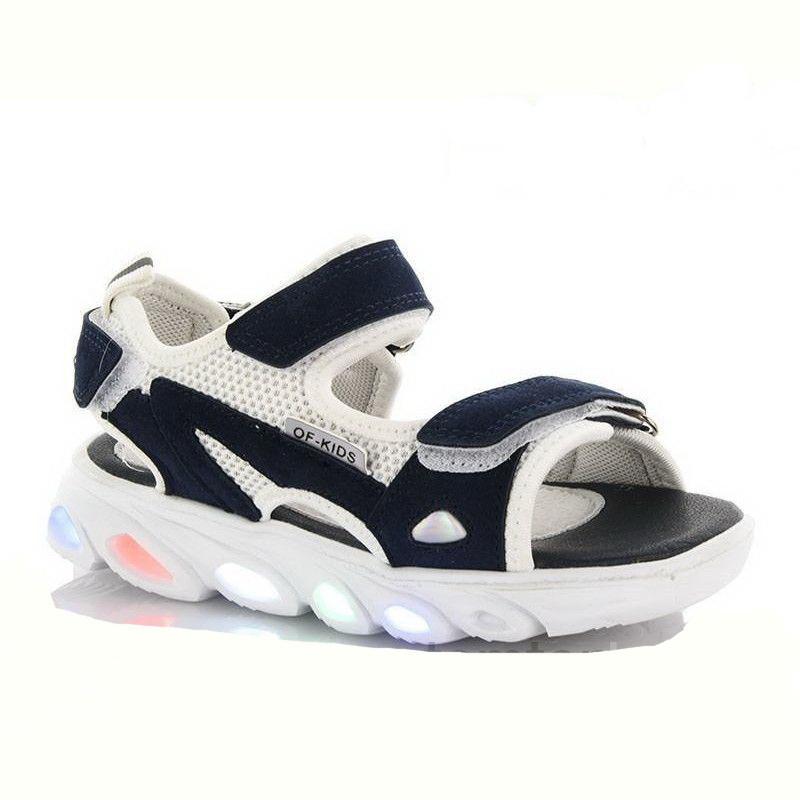 Спортивные босоножки сандалии с мигалками. Размеры 23, 24, 25, 26, 27.