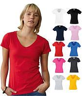Женская футболка с V-вырезом Fruit of the Loom