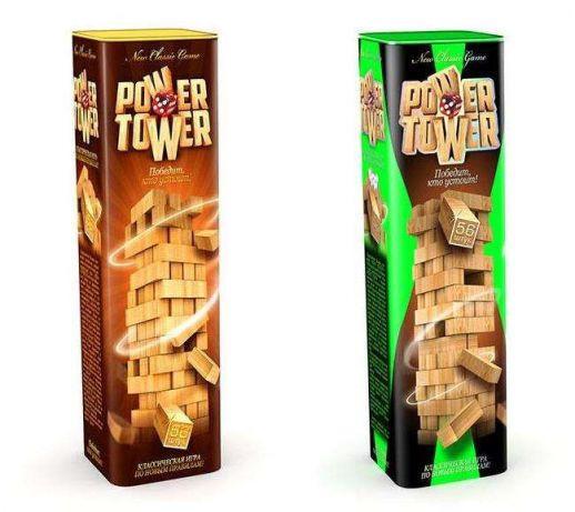 Розвиваюча настільна гра Джанга VEGA POWER TOWER 7802DT, 56 блоків