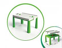 Детский игровой стол с настольным хоккеем 04580/1/2/3/4/5, 2в1 (Зелёный)
